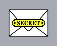 Top secret document icon in envelope Stock Photos