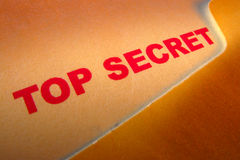 Top Secret Document Stamp in Confidential Folder Stock Image