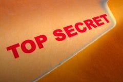 Top Secret Document Stamp in Confidential Folder stock image