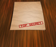 Top Secret Document on the Table Royalty Free Stock Photos