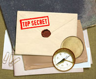 Top secret documents royalty free stock photography