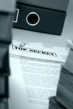 Top secret documents Royalty Free Stock Images