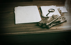 Top secret documents investigation concept background Stock Photography