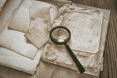 Top secret documents investigation concept background Royalty Free Stock Images
