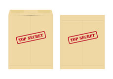 Top secret envelope. Two top secret envelope, one open and one closed Royalty Free Stock Photo