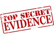 Top secret evidence. Rubber stamp with text top secret evidence inside,  illustration Royalty Free Stock Image