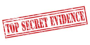 Top secret evidence stamp. Isolated on white background Stock Photo