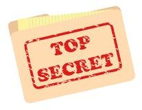 Top Secret File. Folder with grunge text simulating inked stamp Stock Image