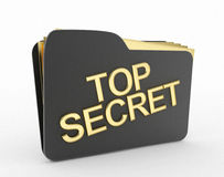 Top secret file icon. 3d high quality rendering royalty free illustration