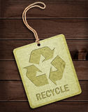 Label with recycle symbol Stock Photo
