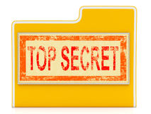 Top Secret File Shows Confidential Folder Or Files. Top Secret File Showing Confidential Folder Or Files Royalty Free Stock Photos
