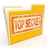 Top Secret File Shows Private Folder Or Files. Top Secret File Showing Private Folder Or Files Stock Images
