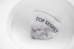 Top secret flush away Stock Photo