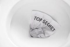 Top secret flush away Stock Photo