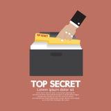 Top Secret Folder In Hand. Vector Illustration Stock Photography