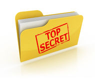 Top secret folder icon. Over the white background Stock Photography