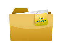 Top secret folder illustration design Royalty Free Stock Photos