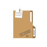 Top Secret folder. Vector illustration flat design. Isolated on white background. Documents confidentially. Paper information in file. Easy to edit, space for Stock Images