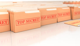 Top secret. Global archive from secret files Stock Images