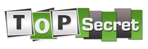 Top Secret Green Grey Stripes Squares Horizontal Royalty Free Stock Images