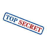 TOP SECRET grunge realistic rubber stamp,  on white background Stock Photos