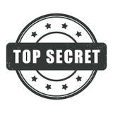 Top secret Grunge rubber stamp Stock Image