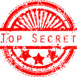 Top secret grunge stamp Royalty Free Stock Images