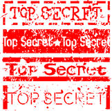 Top secret grunge stamp set Stock Images