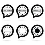 Top secret icon in speech bubble illustration Stock Photography