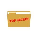 Top secret illustration. Top secret on the white background. Vector illustration Stock Photos