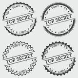 Top Secret insignia stamp isolated on white. Stock Images