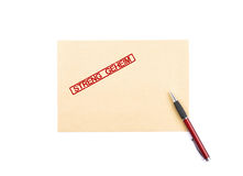 Top secret letter Royalty Free Stock Photography