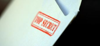 Top secret  letter. Picture of a Top secret  letter Royalty Free Stock Images