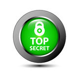 Top Secret Lock Round Icon Stock Images