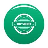 Top secret logo, simple style. vector illustration