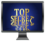 Top Secret. Loss of confidential informations due to data leak, security concept for computers Royalty Free Stock Photo