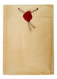 Top secret mail with rope and wax seal Stock Images