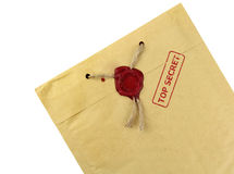 Top secret mail with wax seal Stock Photos