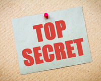 Top Secret Message Royalty Free Stock Photos