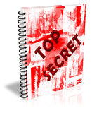 Top secret Notebook. Top Secret Design note book sheet Royalty Free Stock Photo