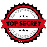 Top secret office rubber Royalty Free Stock Image