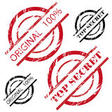 Top secret - original 100% stamp set Stock Photography