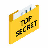 Top secret package isometric 3d icon. On a white background Royalty Free Stock Photos