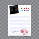 Top secret paper document Royalty Free Stock Image