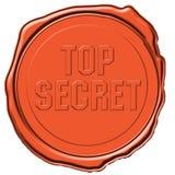 top secret pieczęć Fotografia Stock