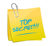Top secret post message illustration design Royalty Free Stock Photos