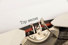 Top secret. Printed on a clean sheet to the typewriter Royalty Free Stock Images