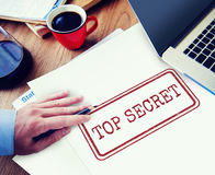 Top Secret Privacy Confidential Classified Stamp Concept Royalty Free Stock Photos