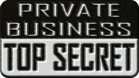 Top secret private business. Stock Photos