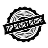 Top Secret Recipe rubber stamp Stock Images